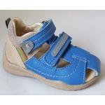 Detské sandálky - modrá/béžová, vz.628