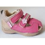 Detské sandálky - ružová/béžová, vz.628