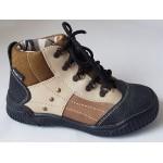Detská obuv - hnedo/béžová, vz.551